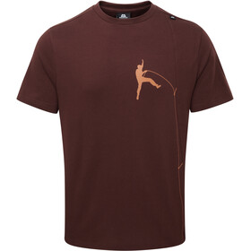 Mountain Equipment Portland Tee Herrer, dark chocolate